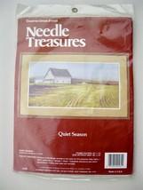 NOS Needle Treasures Quiet Season Cross Stitch Kit Farmhouse Field Cottagecore - $21.00