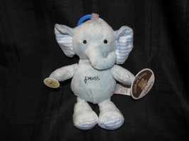Child Of Mine Press Stuffed Plush Blue Elephant Baby Ring Link Clip Toy Musical - $23.75
