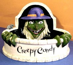 Department 56 Halloween Creepy Candy Fountain Dish of Wicked Witch with ... - $27.90