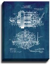 Rotary Engine Patent Print Midnight Blue on Canvas - $39.95+