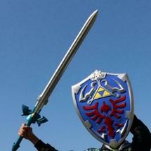 1:1 Cosplay skysword Skyward Sword & Shield /Set Link Safety PU Weapon S... - $40.68+