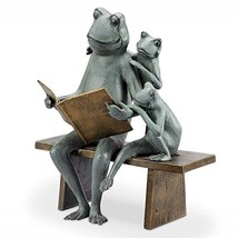 Reading Frog Family Garden Sculpture - $215.04
