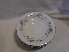 Set Of 8 ~Vintage Johann Haviland Roses Blue Garland China Saucer Plates Retired - $11.99