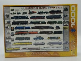 """Eurographics """"History of Trains"""" 1000 Pieces Jigsaw Puzzle Brand New Sealed Box - $29.58"""