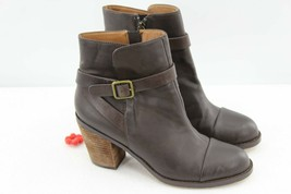Ann Taylor Loft Brown Leather Harness & Buckle Detail Ankle Boot Booties... - $38.61
