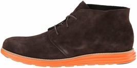 Cole Haan Men's Lunargrand Woodbury Brown Suede Orange Chukka Boot 11 US NIB image 2