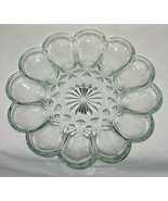 Anchor Hocking Fairfield Pattern Clear Deviled Egg Server - $16.78