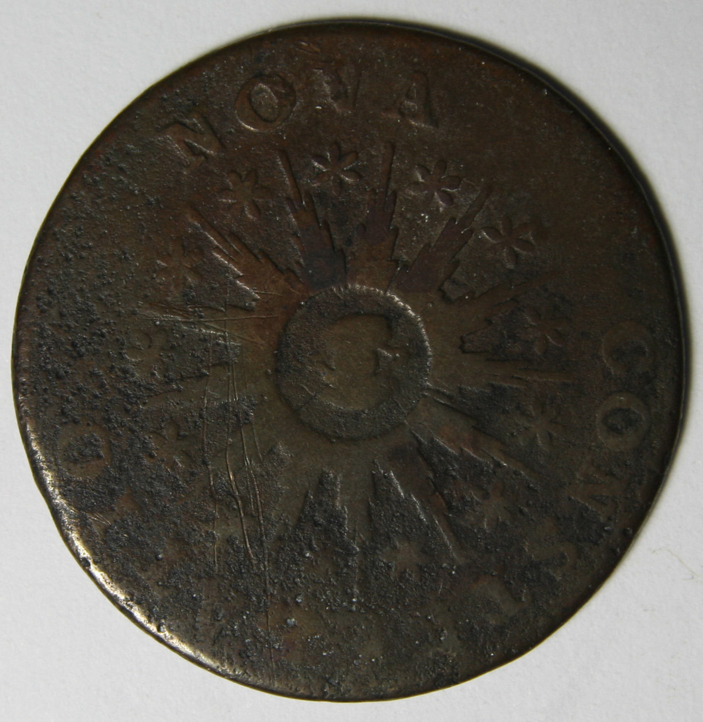 1785 Nova Constellatio Copper Pointed Rays Colonial Coin Lot # MZ 3931