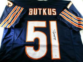 DICK BUTKUS / NFL HALL OF FAME / AUTOGRAPHED CHICAGO BEARS CUSTOM JERSEY / COA image 1