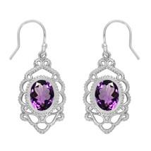 Oval Cut Amethyst Gemstone 925 Sterling Silver Women Wedding Flower Wome... - $28.13