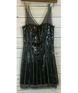 BCBG Maxazria Black Sequined Woven Cocktail Dress Non Stretch Size 0 NEW... - $88.88