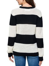 Women's Oversized Long Sleeve Colorful Chunky Knitted Casual Pullover Sweater image 11