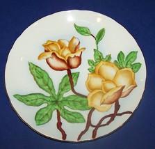 "STUNNING TUSCAN ENGLAND HAWAIIAN FLOWERS WOOD ROSE 8"" PLATE - $14.84"