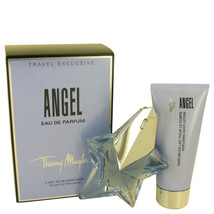 Thierry Mugler Angel 1.7 Oz EDP Spray Refillable + Body lotion Gift Set image 1