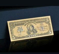 AN ☆AMAZING ☆ 《1899 SILVER CERTIFICATE》 INDIAN CHIEF  $5 Rep.*Banknote -... - $16.79