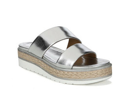 Franco Sarto Women Titan Silver SY Wedge Sandals Woven Accents  Sz 8 1/2 - $42.98