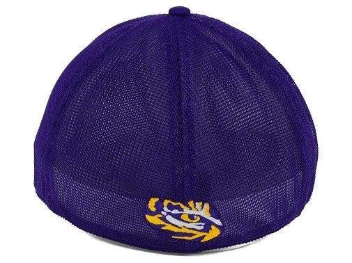 "LSU Tigers NCAA ""Circle"" A-Flex Stretch Fitted Hat"