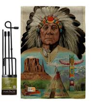 Native American Burlap - Impressions Decorative Metal Garden Pole Flag S... - $33.97