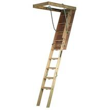 Wood Attic Ladder Adjustable Weather Resistant w/ 300 Lbs Maximum Load C... - $190.93