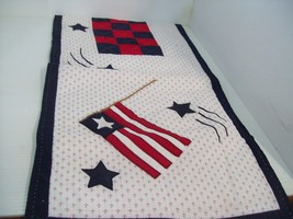 "51"" x 14"" Hand Made Patriotic Americana US Flag Table Runner - $10.88"