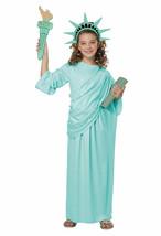California Costume Statue Of Liberty USA America Child Halloween Costume 00616 - $26.61