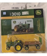 John Deere TBE45304 ERTL 3010 Tractor With Hay Wagon Die Cast Metal Replica - $10.99