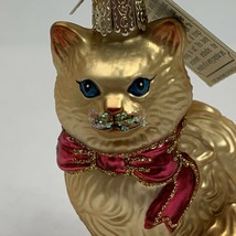 Cat Glass Ornament Old World Christmas The Merck Family's Himalayan Kitty New - $19.99