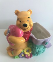 "FTD Disney Winnie The Pooh Floral Heart Ceramic 7"" Flower Pot - $24.86"