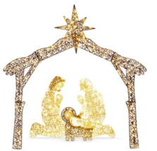 6 ft. LED Outdoor Nativity Set with 190 Warm White Lights and Stakes - $70.00