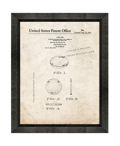Game Chip Patent Print Old Look with Beveled Wood Frame - $24.95+