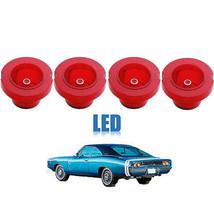 68 Dodge Charger Red LED Tail Brake Turn Signal Light Lens Wiring 1968 Set of 4 - $124.95