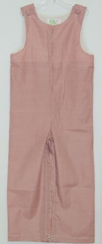 Ellie O Gingham Full Lined Cotton Polyester Blend Longall Size 3 Color Red