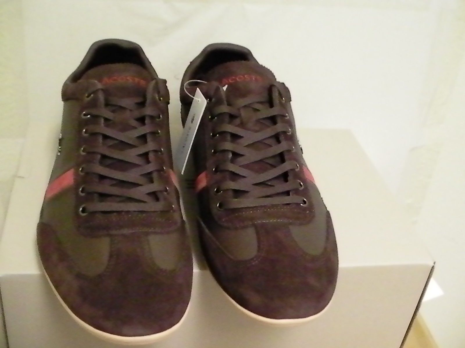 afc3b9d845302b Lacoste shoes misano 22 spm leather suede dark brown size 10 us