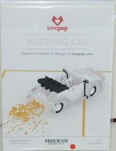 Lovepop LP1217 Wedding Car Just Married Pop Up Card White Envelope Cellophane image 6
