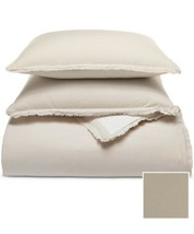 Martha Stewart Collection Cotton Reversible 3-Pc Oatmeal Full/Queen Comforter  - $84.15