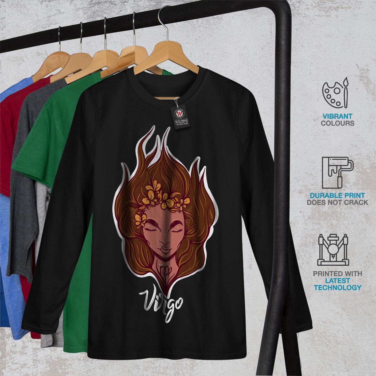 Virgo Tee Zodiac Sign Women Long Sleeve T-shirt image 2