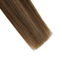 Ugeat 16 Inch Keratin Tipped Human Hair Extensions 0.8g/Strand Color #1B/4/27 Ba image 7