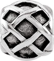 Persona Sterling Silver Criss Cross Stopper Charm fits Persona European Silver C
