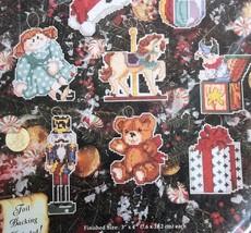 Nostalgic Toy Ornaments 06-39 Janlynn NOS Plastic Canvas Christmas Kit - $11.87