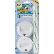 Ball 1440015010 Sip and Straw Lids (each pack includes a set of 4) which... - $20.29