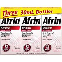 Afrin Original Nasal Spray, 3 Count - $36.05