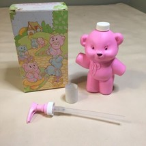 VINTAGE AVON TEDDY BEAR BABY LOTION DISPENSER PINK 1981 NIB - $7.91