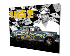 1952 Fabulous Hudson Hornet Race Car Design 16x20 Aluminum Wall Art - $59.35