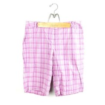 Covington Signature Fit Women's Sz 14 Pink Shorts Plaid Crop Capri Stret... - $7.49
