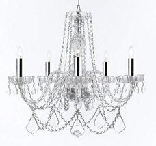 Made with Swarovski Crystal Murano Venetian Style Chandelier Crystal Lights Fixt - $262.63