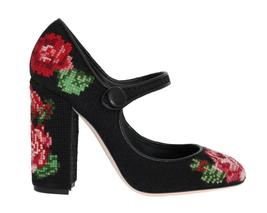 Floral Leather Hand Stitched Pumps - $1,075.00