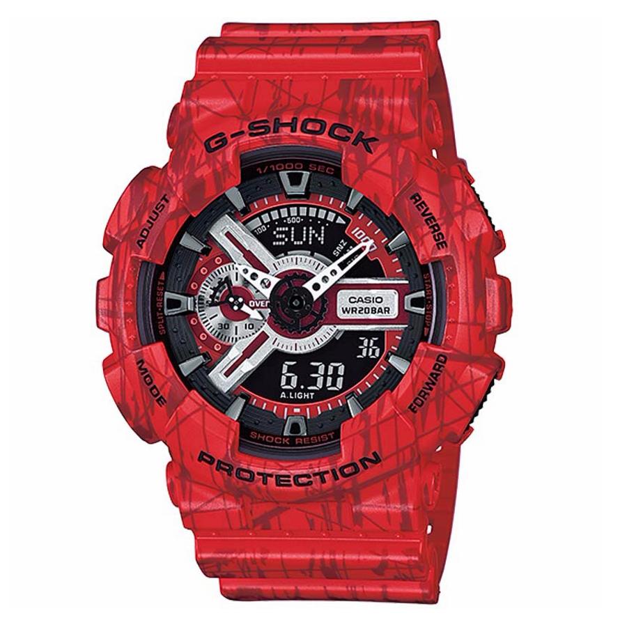 Casio Men's G Shock Red Analog Digital Watch GA110SL-4A Wristwatch for sale  USA