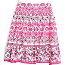 Fashion Bug Skirt Plus Size 24 Pink White Black Lined Cotton - $23.36