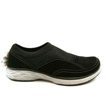Ryka Womens Talia Slip On Sneaker Shoes Black Leather Mesh Low Top 7M - $39.59