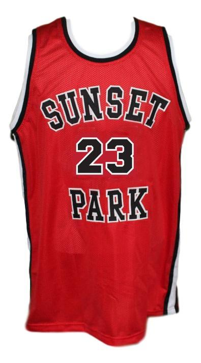 Busy bee  23  sunset park movie basketball jersey red   1